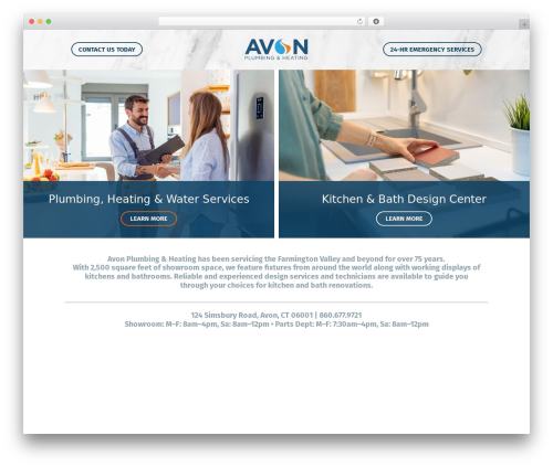 WordPress theme Avon - avonplumbing.com