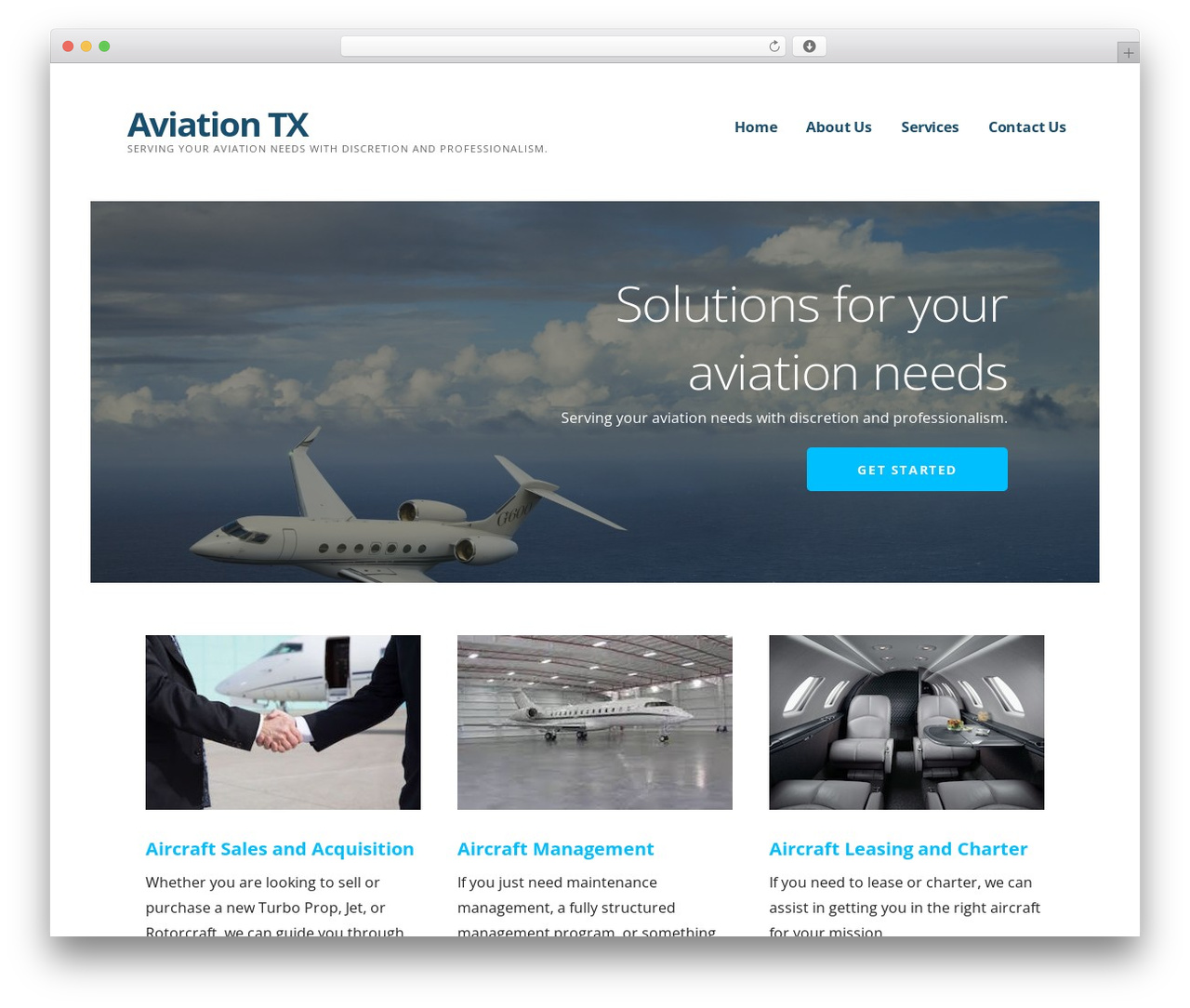 Ascension WordPress theme - aviationtx.com
