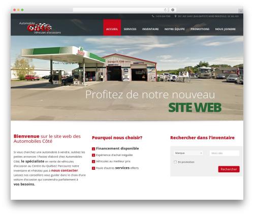 Automotive car rental WordPress theme - automobilescote.com