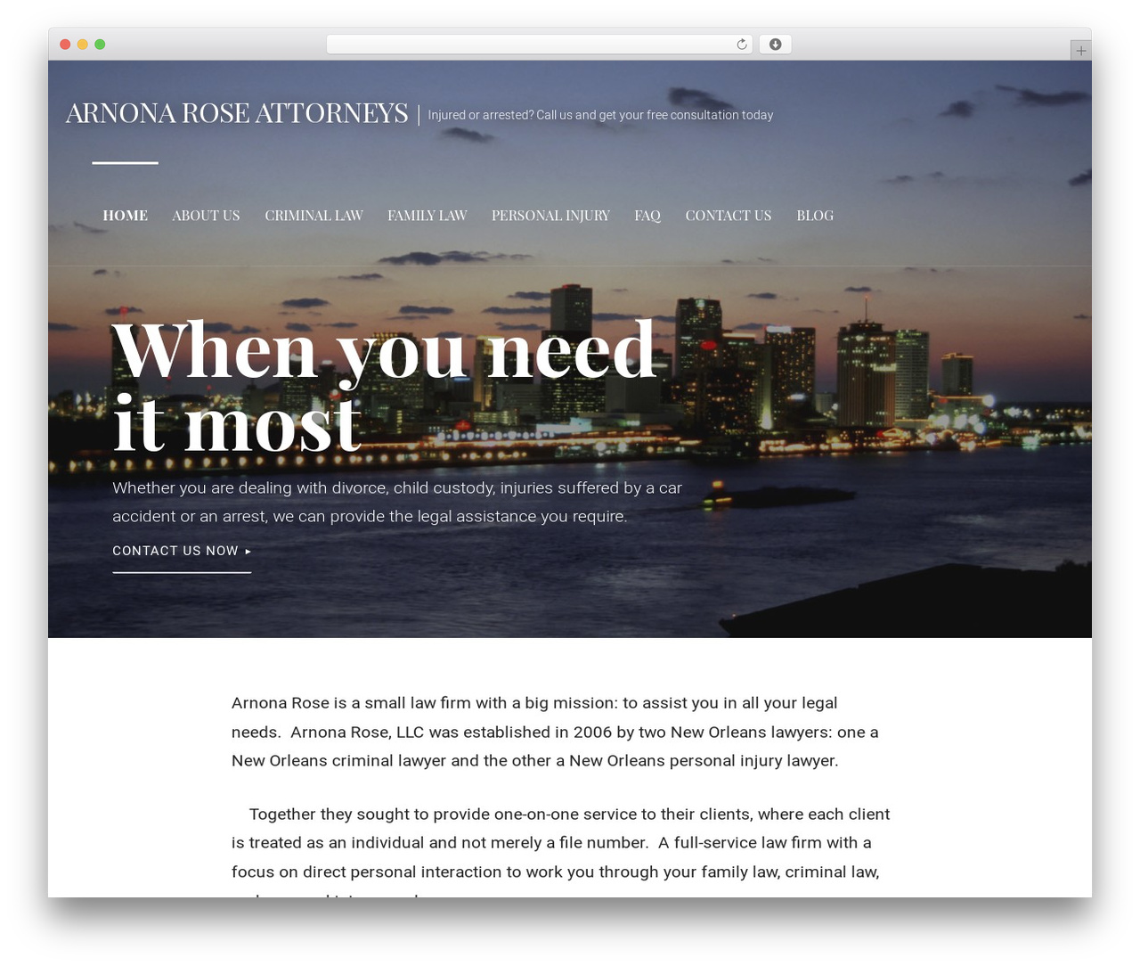 Primer best free WordPress theme - arnonarose.com