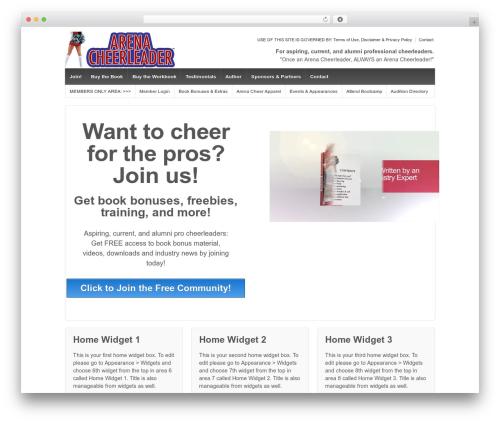 Responsive free WP theme - arenacheerleaders.com