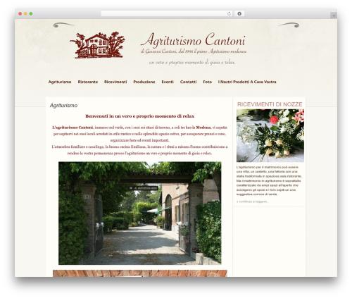 Theme WordPress Wordpress Anniversary - agriturismocantoni.it