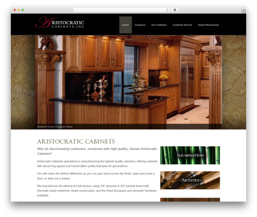 WordPress theme Headway Base - aristocraticcabinets.com
