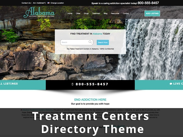 WordPress theme TREATMENT SEARCH DIRECTORY