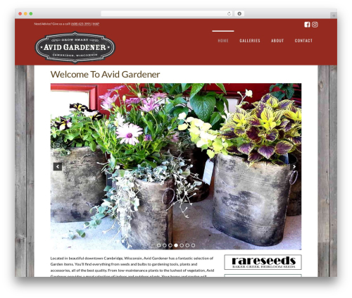 WordPress x-shortcodes plugin - avid-gardener.com