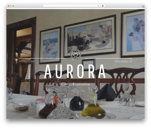Aurora theme WordPress - auroraca.com