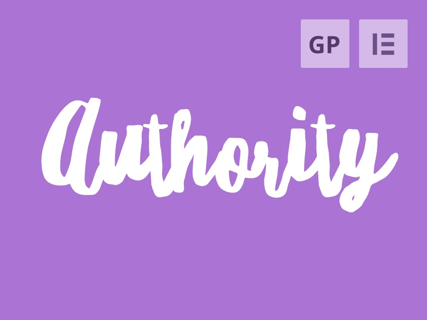 Authority + GeneratePress Child best WordPress theme