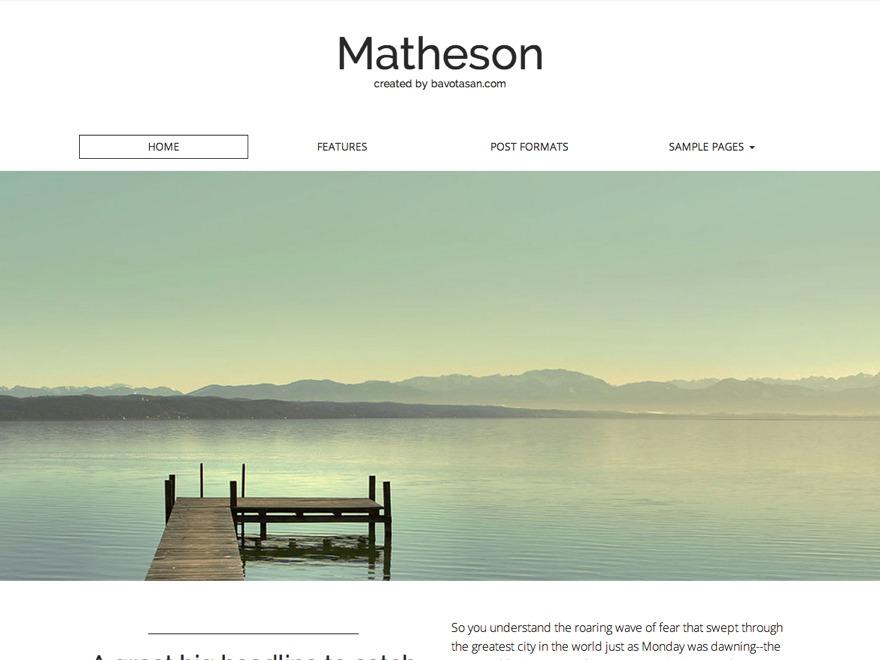Matheson WordPress video theme