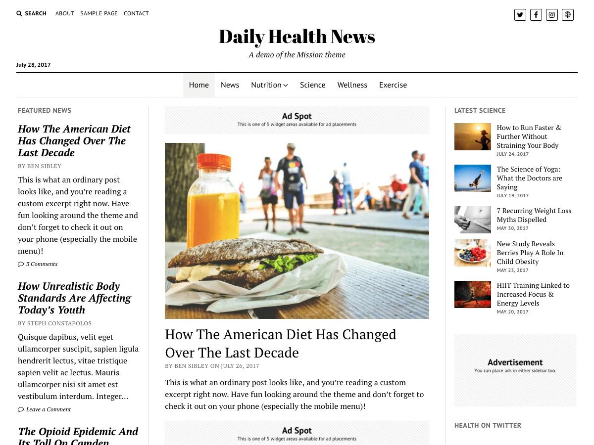 sloth news theme wordpress news template by ammar shahraki