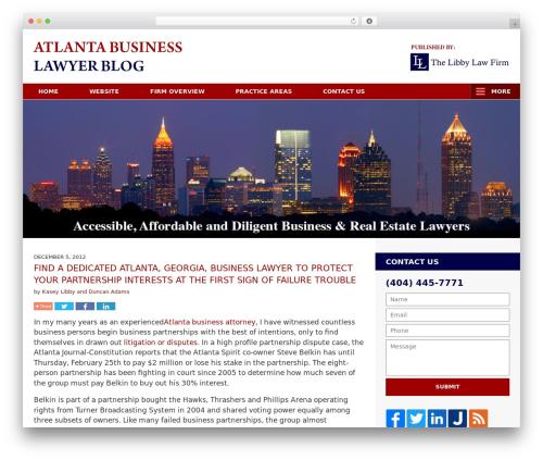 Willow-Responsive template WordPress - atlantabusinesslawyerblog.com
