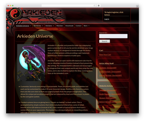WordPress website template Bones (Rename Me!) - arkieden.com