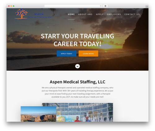WordPress website template One Page Express - aspenmedicalstaffing.com