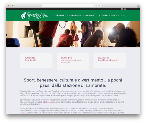 Yoga Fit WordPress website template - associazionesportinglife.it