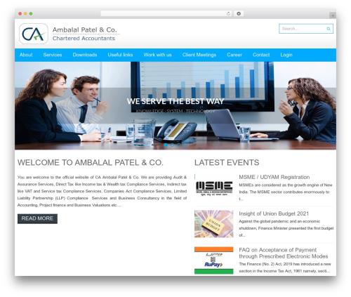 Accesspress Lite free WordPress theme - apcca.com