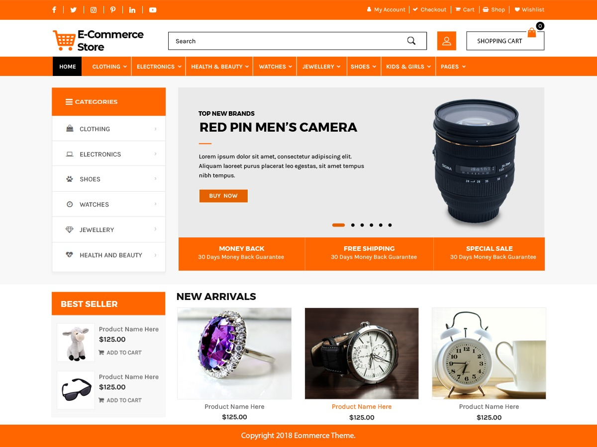 Advance Ecommerce Store WordPress shop theme