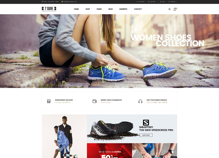 fshow WordPress store theme