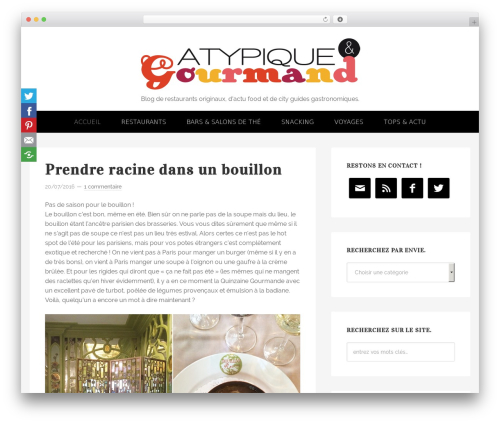 Genesis WordPress theme design - atypiqueetgourmand.com