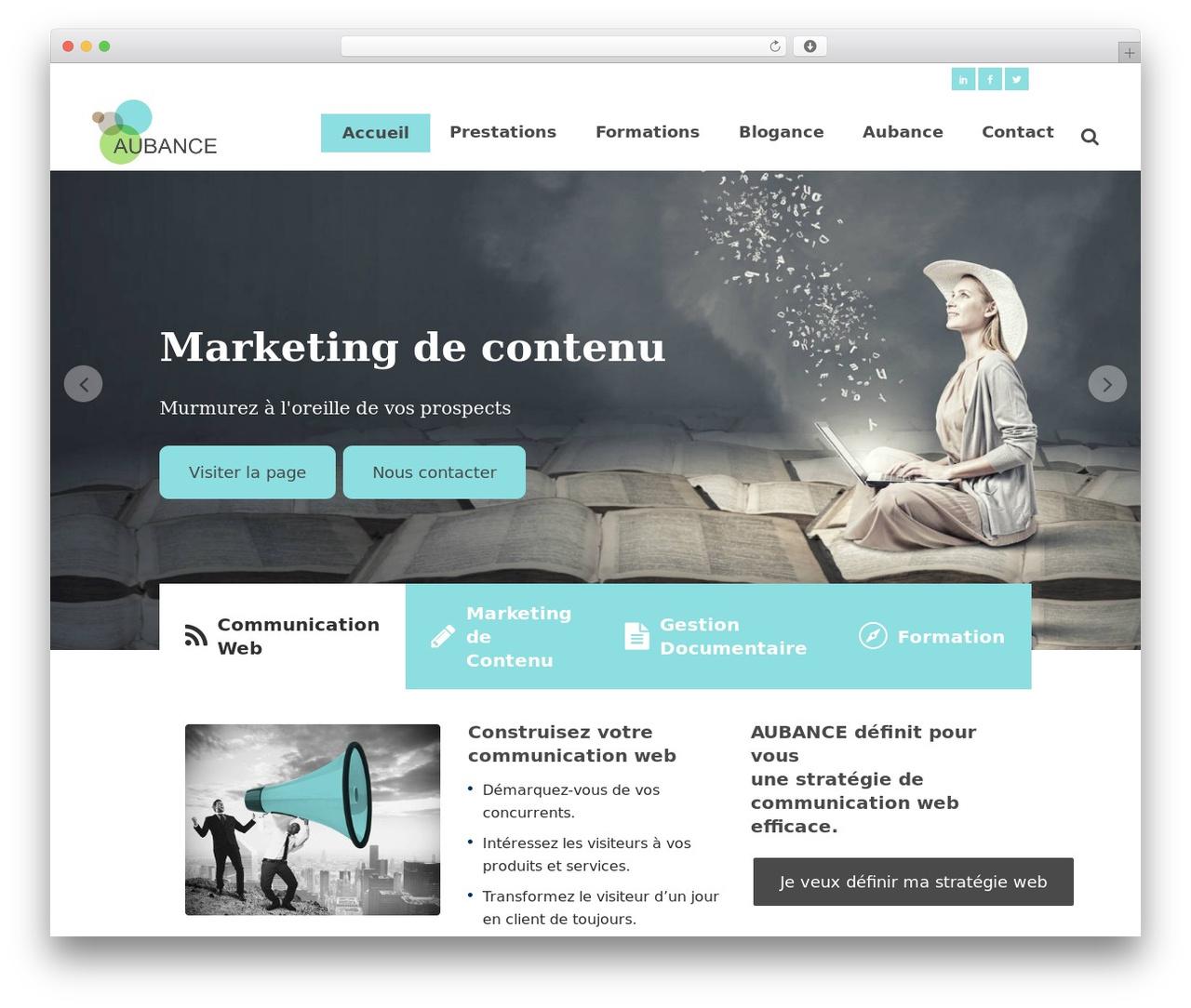 Theme WordPress Bridge - aubance.fr