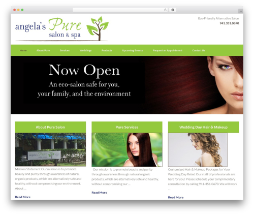 Free WordPress TablePress plugin - angelaspuresalon.com