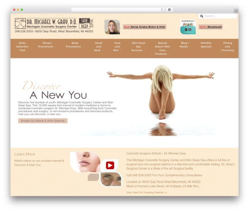 WordPress template Media Advantage - Azula - anewyou.com