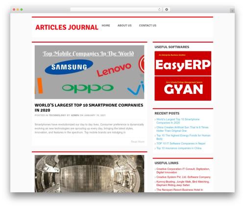 WordPress theme Groovy - articles-journal.com
