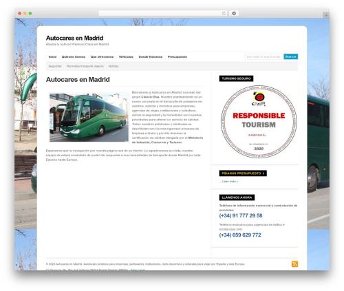 WP-Ellie WordPress theme - autocaresenmadrid.es