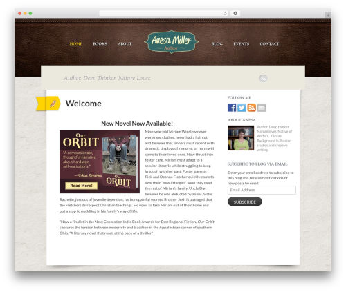 Writer Child WordPress website template - anesamiller.com