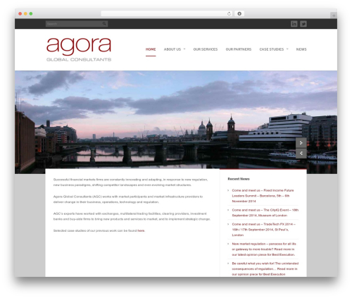 Agora premium WordPress theme - agoraglobalconsultants.com