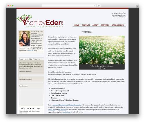 Best WordPress theme Thesis - ashleyeder.com