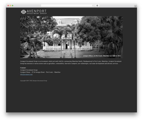 Clearly Modern theme WordPress - avenport.com