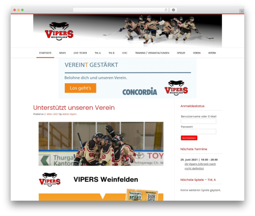 Conica best free WordPress theme - vipers-weinfelden.ch