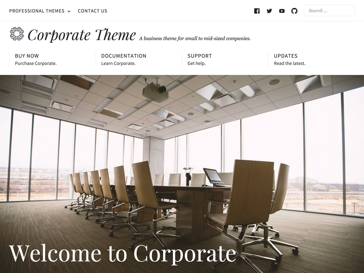 Corporate WordPress template for business