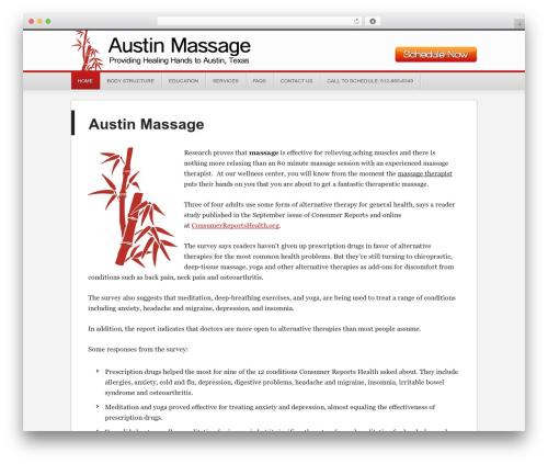 Generate Child Theme massage WordPress theme - austin-massage.com