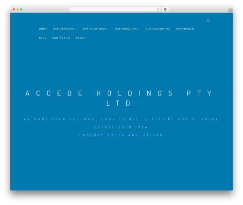 Smart top WordPress theme - accede.com.au