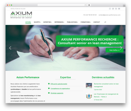The7 WordPress theme - axium-performance.fr