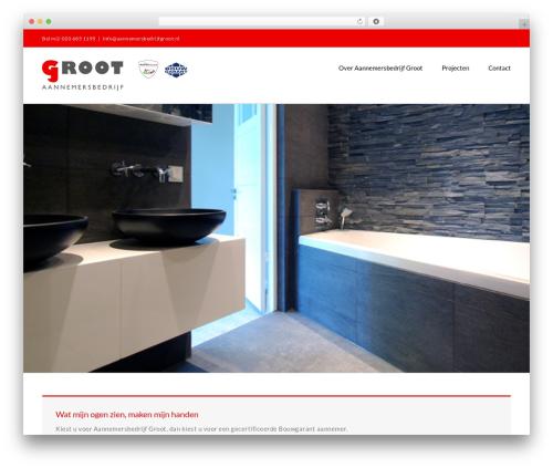 Theme WordPress Avada - aannemersbedrijfgroot.nl