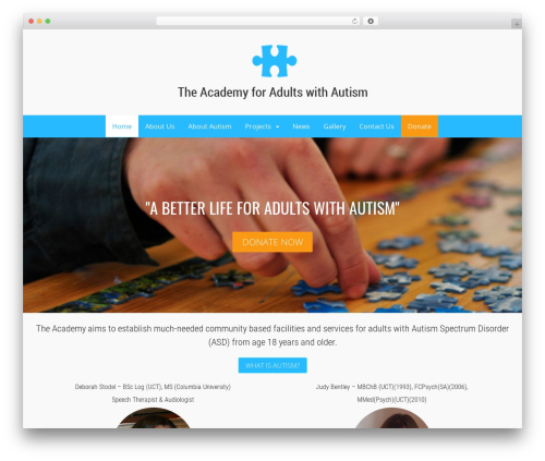 WordPress theme Canvas - adultswithautism.org.za