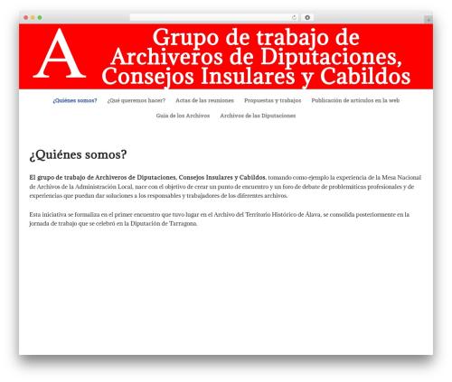 WordPress theme neve - archiverosdiputaciones.com