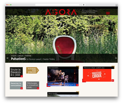 WP theme Agora - agora-boulazac.fr