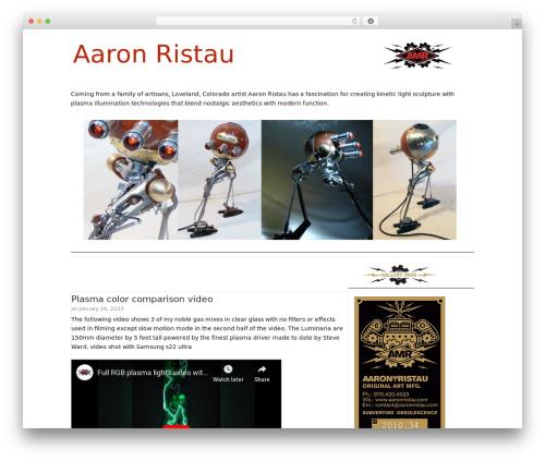 Catalyst WordPress website template - aaronristau.com