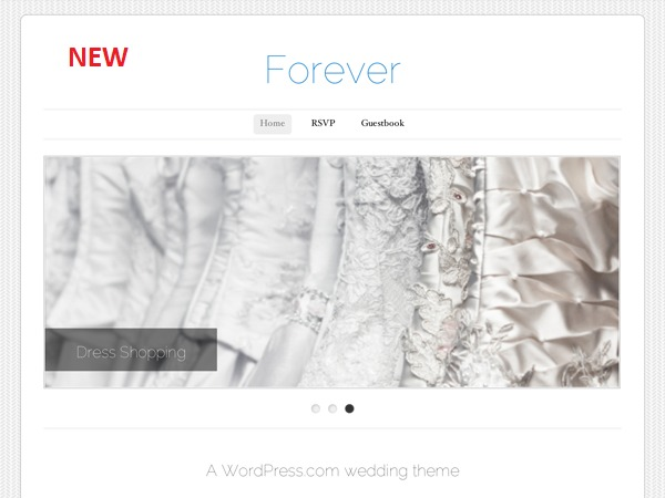 Forever Child WordPress page template
