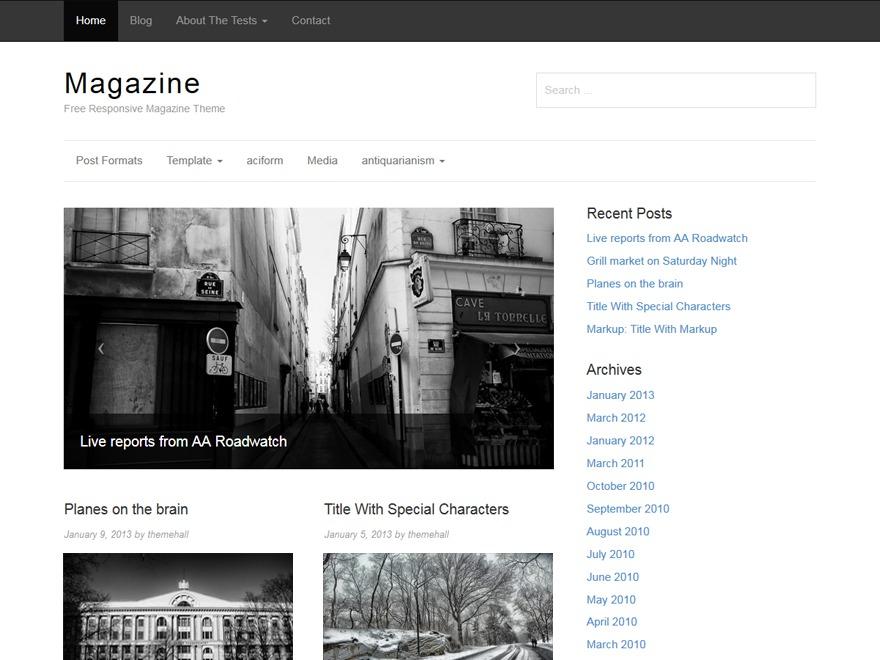 Magazine WordPress magazine theme