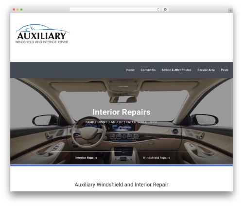 Mechanic WordPress page template - auxiliaryrepair.com