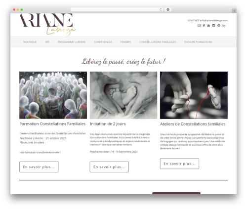 Oceanic Premium template WordPress - arianelaberge.com