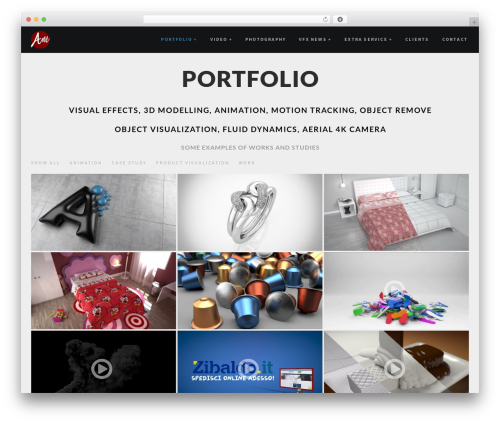 RED:FOLIO WordPress template - antoniomele.com