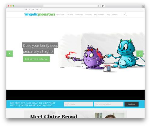 Salient WordPress theme - angelicmonsters.com.au