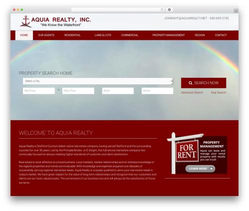 Theme WordPress Equity - aquiarealty.net