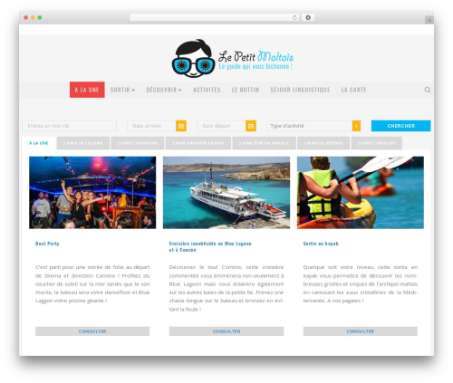 Travelo WordPress travel theme - activites.lepetitmaltais.com