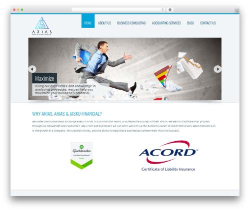 Trias WordPress theme - ariasfinancial.com