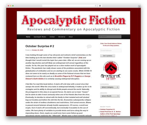 Free WordPress Twenty Eleven Theme Extensions plugin - apocalypticfiction.com